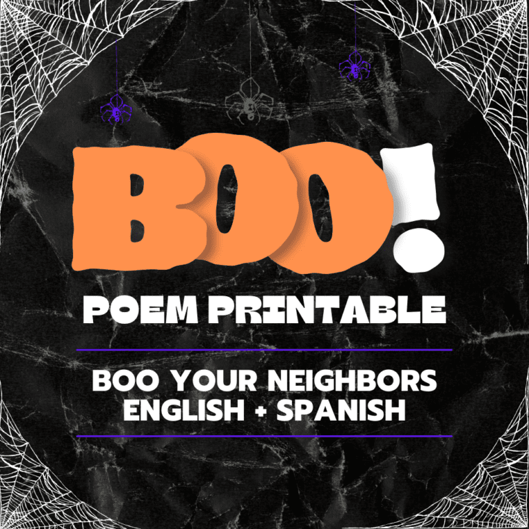 👻 You've Been Booed Poem 👻 for Your Neighbors | Boo Poem Printable