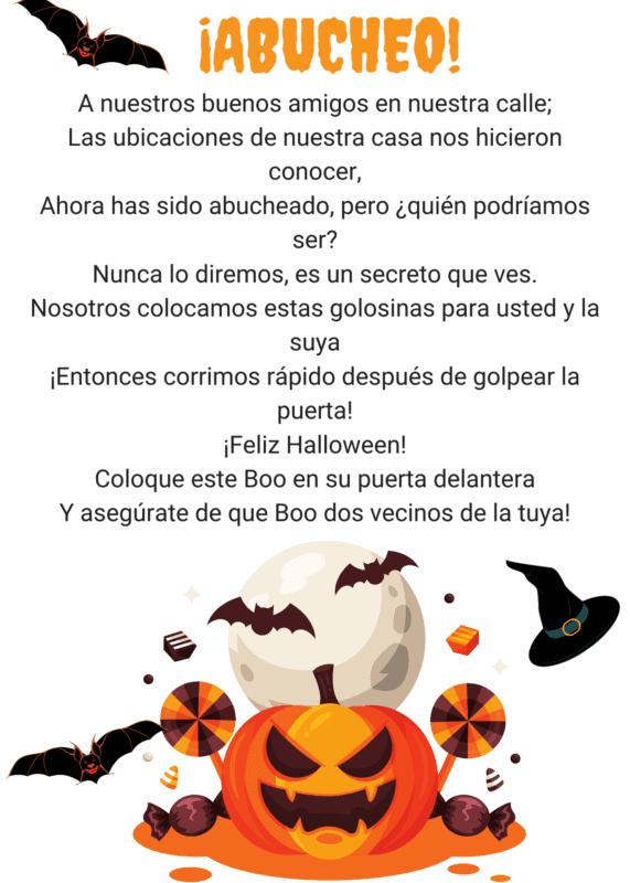 boo poem happy halloween in spanish