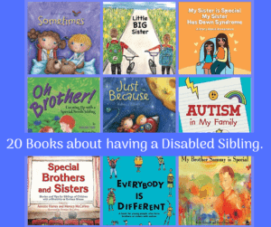 Books for Siblings with disabilities everybody is different autism is my family just because and more book photos