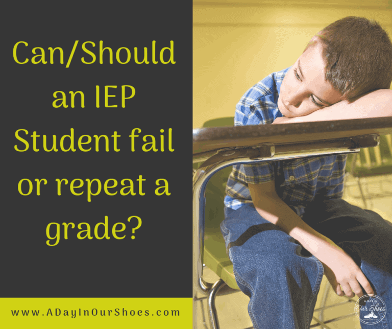 Can/Should an IEP Student fail or repeat a grade?