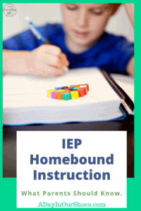 child reading and learning instruction in the home