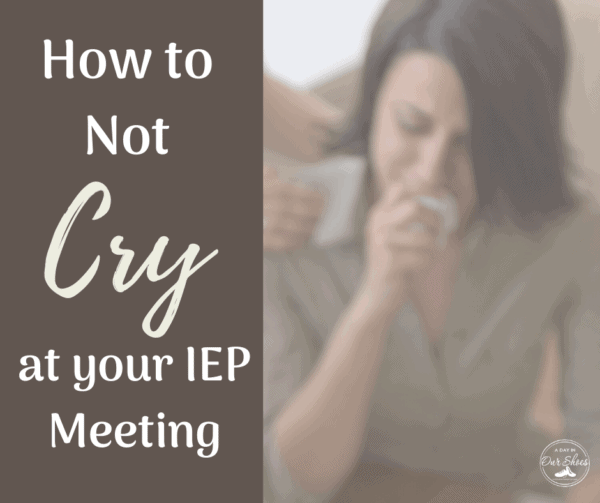 a mom crying at an iep meeting