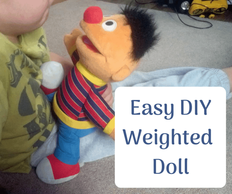 How to make a weighted doll for your child. {easy!}