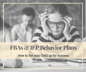 FBA IEP Behavior Plans