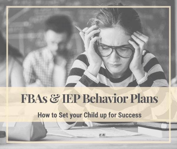 FBA IEP Behavior Plans