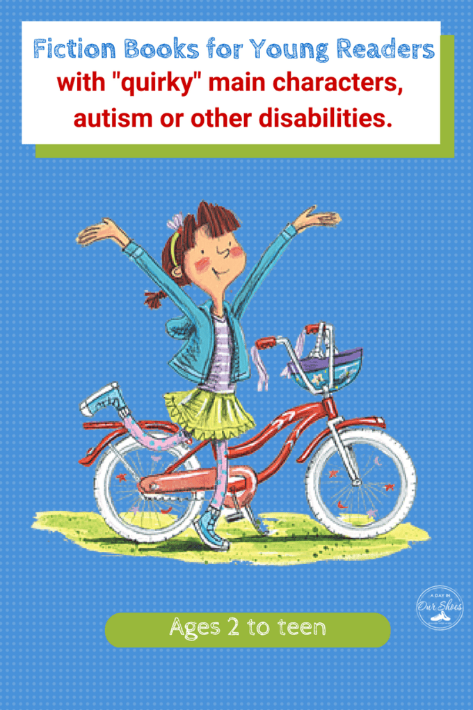 List of fiction books for kids with a character with autism, disabilities or just plain quirky. Great to read alone or use with social stories about making friends.