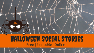 13 Free, Printable Social Stories about Halloween and Trick-or-Treating.