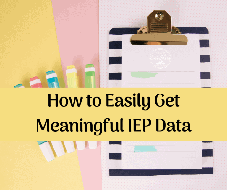 How to get Meaningful IEP Data   Examples   Collection   Sheets