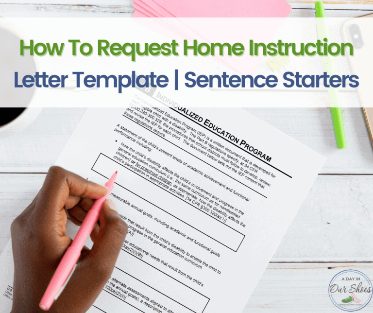 How to Request Homebound Placement | Examples | Sentence Starters