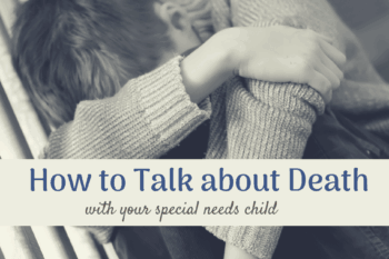 How to talk to your disabled child about death child sitting on steps head down sad