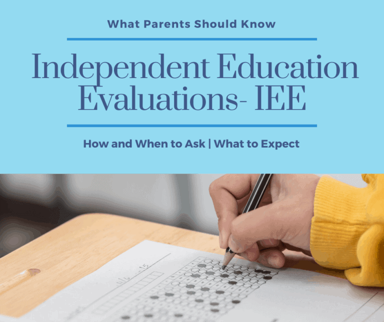 IEE Independent Education Evaluations | When, Why and How to Request One.