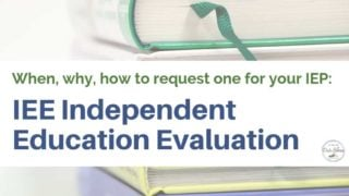 IEE Independent Education Evaluations: When, why and how to request one.
