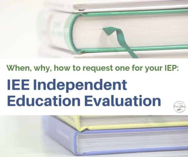 IEE independent education evaluation