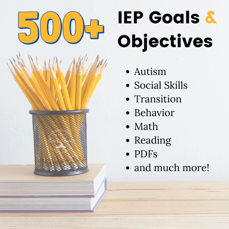 500+ Measurable IEP Goals and Objectives | IEP Goal Bank 🎯