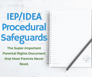 IEP IDEA procedural safeguards