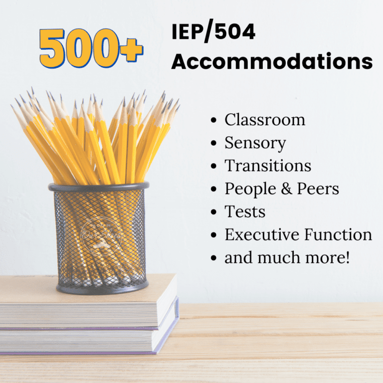List of 500+ Accommodations for an IEP or 504 Plan | Sensory | Classroom | PDF