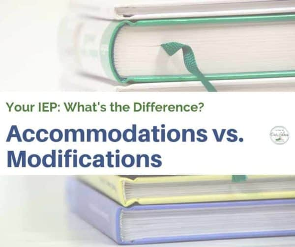 IEP accommodations modifications