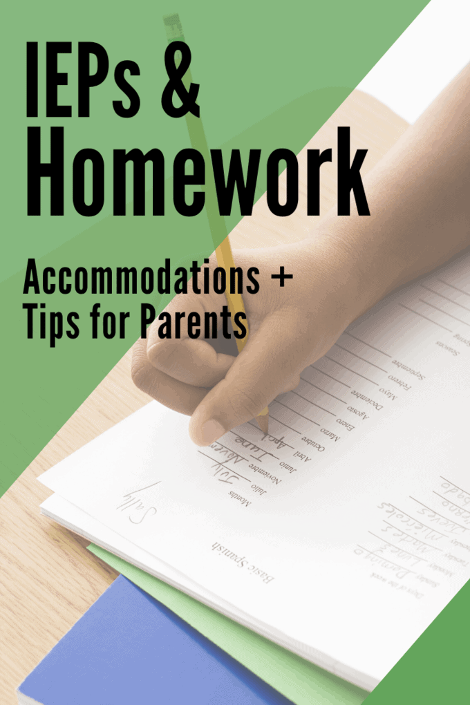 homework accommodations on an iep