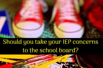 IEP concerns school board