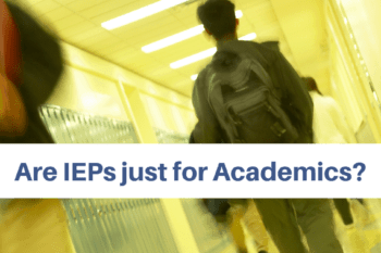 IEP just for academics boy walking the hall of a school