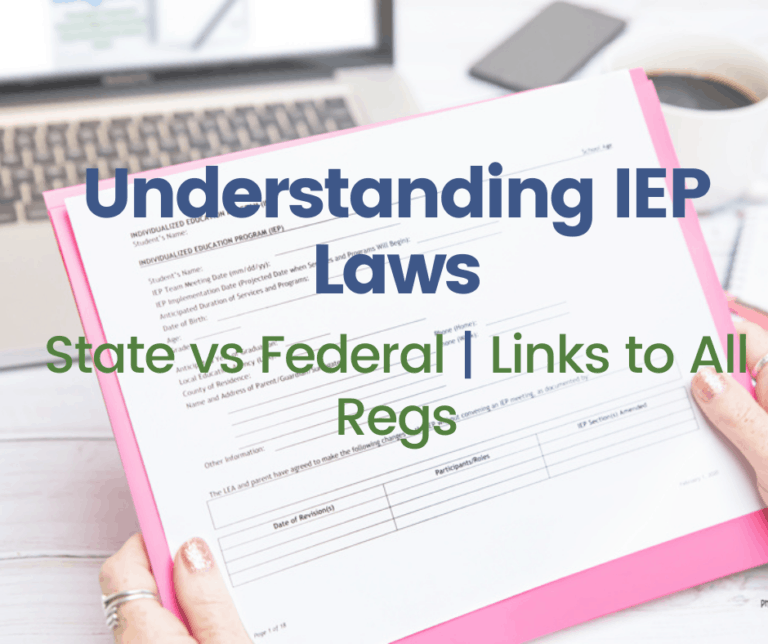 IEP Laws and Regulations for all 50 States | Spreadsheet with Links