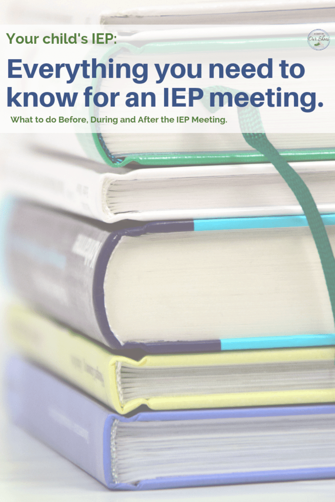 Everything you need to prepare for your child's IEP Meeting and IEP process. Before, during and after the meeting, it's all here! #IEPgoals #IEPadvice #IEPmeeting #DontIEPalone #specialed