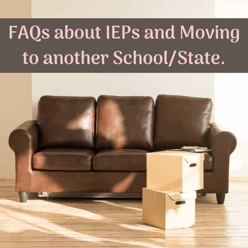if your child has an iep and you move do they have to change
