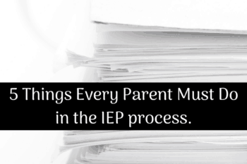 IEP must do for parents