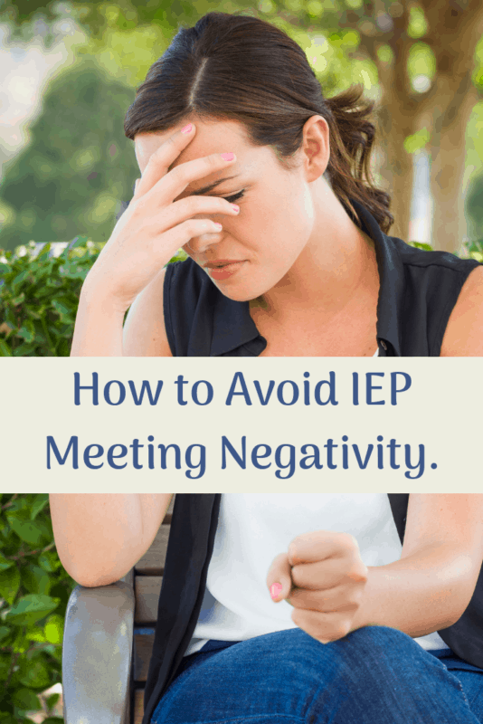 how to avoid IEP negativity