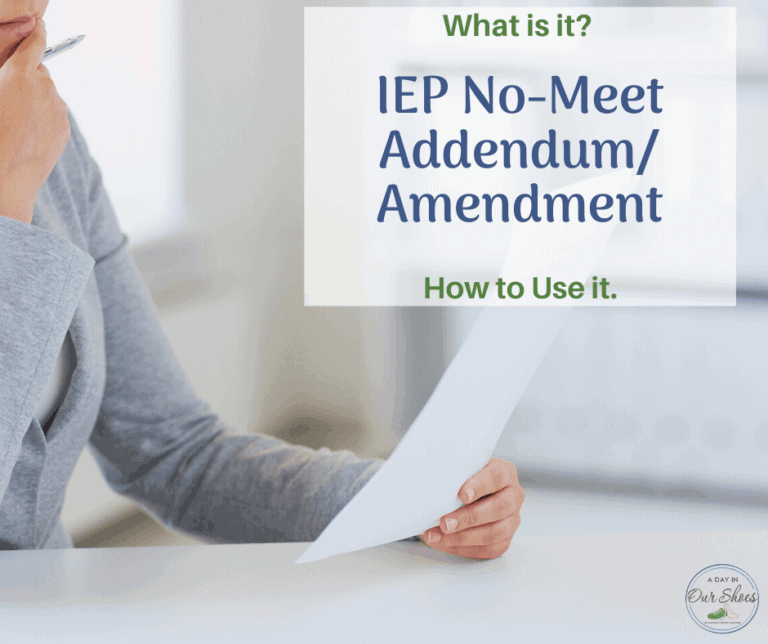 No-Meet IEP Addendum | What is it? | How to Use it.