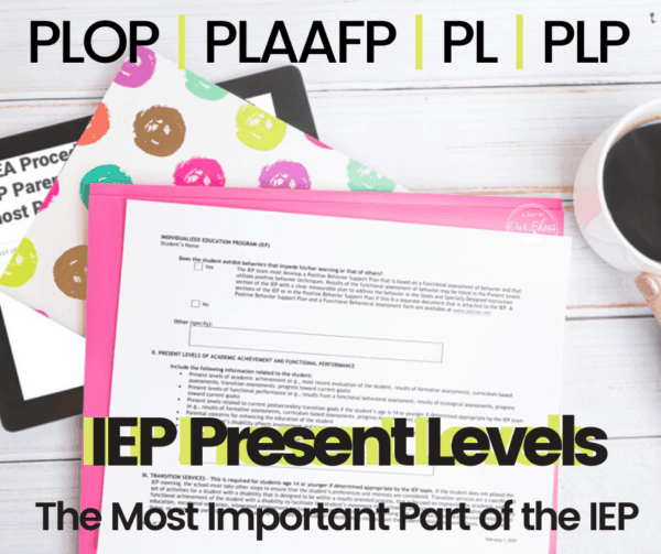 Present Levels | PLOP | PLAAFP | The Most Important Section of the IEP-Find out Why!