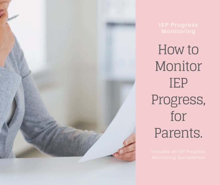 IEP Data Tracking | IEP Progress Monitoring, for Parents | Free IEP Goal Tracker