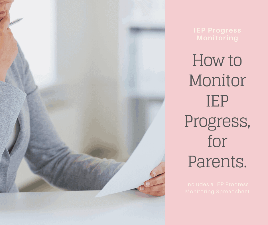 a mom reads her child's iep progress monitoring spreadsheet
