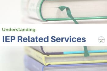 IEP related services school textbooks