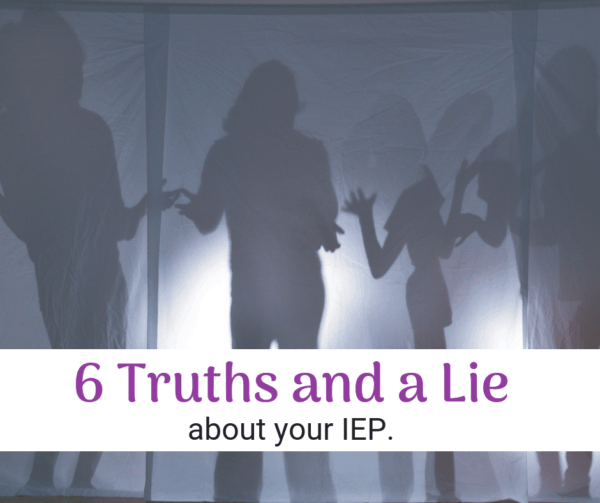 IEPs are confusing enough, without hearing misinformation. How to tell if you're being lied to at IEP meetings.