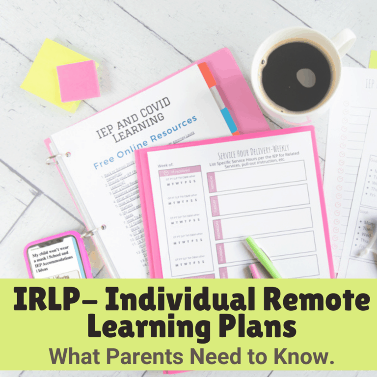 What is an IRLP? Individual Remote Learning Plans, explained.