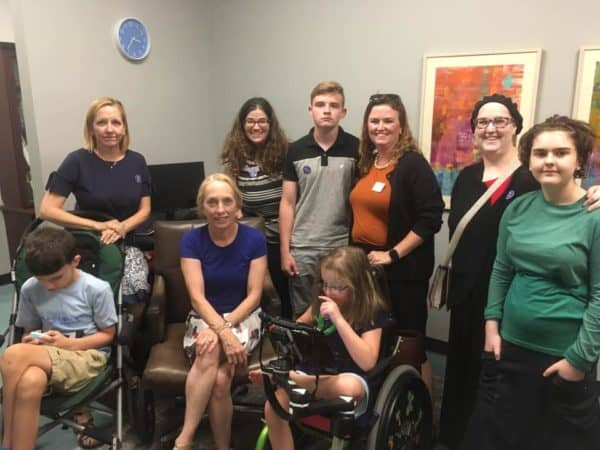 Kevin and I with Little Lobbyists and Congresswoman Scanlon
