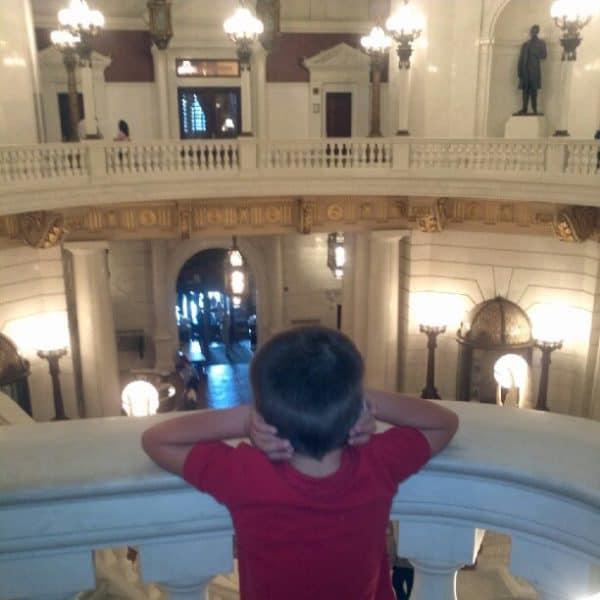 Kevin at the PA capitol rotunda