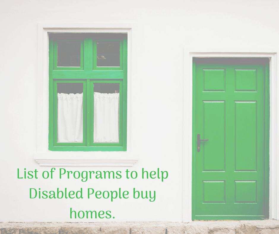 11 programs that help people with disabilities buy homes house with a green door and green window