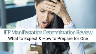 Manifestation Determination for IEP/504 Students, explained.