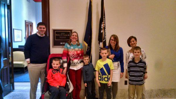 My boys and Blake's boys, Senator Casey office