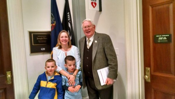 My boys and I with Congressman Pitts