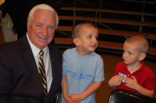 My boys with Governor Corbett