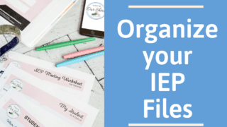 The Best Way to Organize your IEP Files. (and track IEP Goals!)