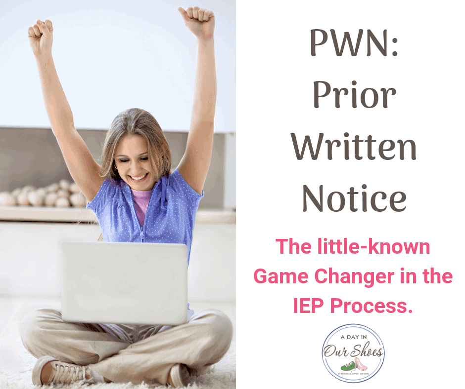 prior written notice