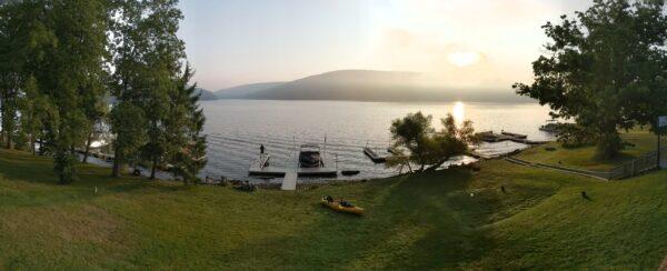 deep creek lake panoramic view