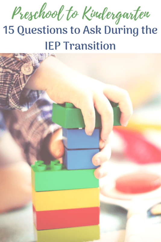 Questions to Ask IEP kindergarten Transition