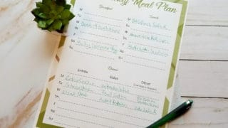 *The Best and Easiest* Free Printable Weekly Meal Planner Template for Moms.