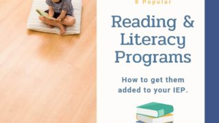 8 Popular Reading Programs {+how to get them in your IEP!}