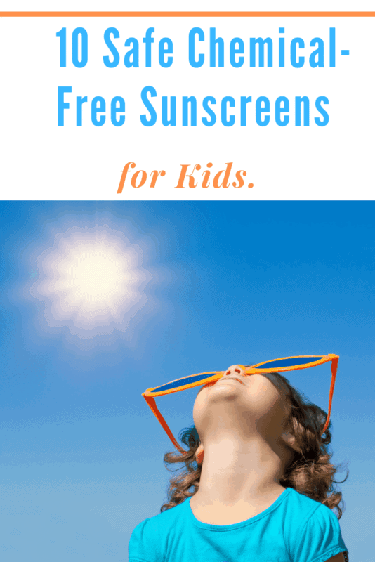 child wearing Safe Chemical Free Sunscreen and sunglasses